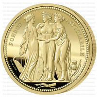 2020 Alderney The Three Graces 3 Coin Gold Sovereign Proof Set - Only 500 Minted