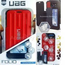UAG Urban Armor Gear Samsung Galaxy S6 Folio Wallet Case Cover Red / Black