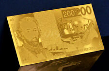 "★★ BELGIQUE : BILLET POLYMER  "" OR "" DU 200 FRANCS ★"