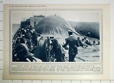 1915 WWI WW1 PRINT KITE BALLOON ON BOARD SHIP PARTIALLY INFLATED BRITISH SPOTTER