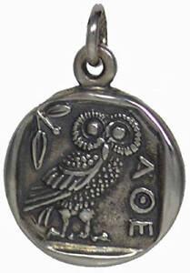 Athens Tetradrachm - Goddess Athena & Owl of Wisdom Silver Pendant