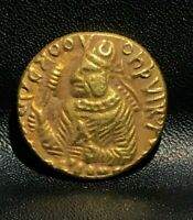 Kushan: Huvishka Gold dinar coins