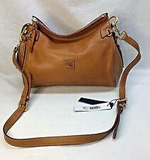 NEW Dooney & Bourke Florentine Leather Medium Zip Crossbody - NATURAL