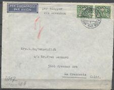 22½ CT.TRALIE IN PAAR OP CLIPPER LP.COUVERT AMSTERDAM CS-USA 24.VI.1941  Zw692