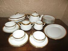 Noritake Green Mark Goldena White with Gold Trim Children's Dinner Service Set