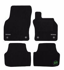 Custom LOGO black floor car mats fits Skoda Octavia mk3 2013-up 4pcs set