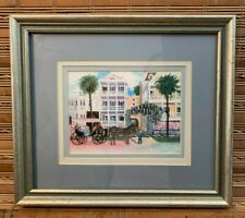 Bonnie Holden Framed Art Print Old Charleston SC Horse & Buggy Personal Signed