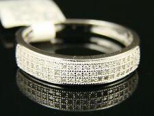 10K Mens 5 Mm White Gold Wedding Band Diamond Ring