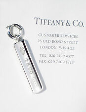 Tiffany & Co Argento Sterling Charm 1837 BAR LINGOTTO solo