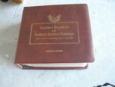 Lot of 41 1980 - 1981 Golden Replicas of United States Stamps in Binder