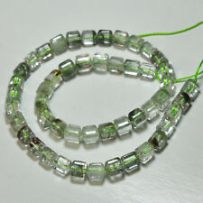 215CT Green Phantom Quartz Smooth Fancy Shape Beads 16 inch Strand