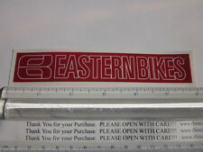 "6"" EASTERN BIKES Red BMX Street Bicycle Ride Race Car Tool Frame STICKER DECAL"