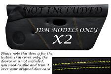 El pespunte amarillo de encaja Mazda Mx5 Mk1 Miata 89-97 Jdm 2x Puerta Tarjeta cubiertas de cuero