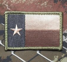 TEXAS TX STATE FLAG USA ARMY MILITARY BADGE FOREST VELCRO® BRAND FASTENER PATCH