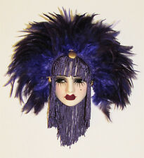 Unique Creations Small Art Deco Lady Face Mask Wall Hanging Decor 7