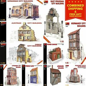 RUINED CITY BUILDINGS MINIART 1/35 BUILDINGS AND ACCESSORIES KIT + GIFT SET 1
