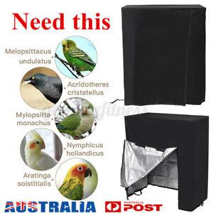 Pet Bird Cage Cover Shell Guard Catcher Bag Skirt Parrot Net Area Protection AU