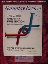 Saturday Review July 13 1968 R BUCKMINSTER FULLER ARCHIBALD MACLEISH