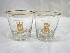 vintage Hiram Walker Canadian club whisky glasses-2