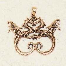 Celtic Dragon Lovers-Bronze/Pagan/Gold/Pendant/Jewelery/Medieval/Fantasy