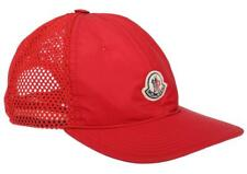 NEW MONCLER RED LOGO MESH BACK BASEBALL CAP HAT ONE SIZE 100% AUTHENTIC!