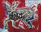 Jean Michel Basquiat Red Rabbit Canvas Print 16 x 20   #7739