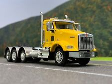 1/64 DCP YELLOW KENWORTH T800 TRI-AXLE DAY CAB