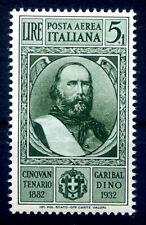 REGNO 1932  -CINQUANTENARIO GARIBALDI   Lire 5+1  PA NUOVO **