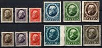 P135620/ BAYERN, OLD GERMANY – YEARS 1914 - 1920 MINT MH – CV 212 $