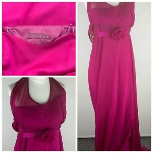 Debut Strapless Purple Floral Maxi Dress Evening Prom Size 12