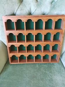 """Small wall mounted wooden display case for models/Trinkets 13"""" x 12"""" x 1.5"""""""