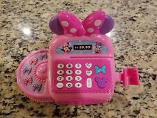 Girls Pretend Minnie Mouse Pink Toy for Kids Cash Register Drawer WITH 3 COINS