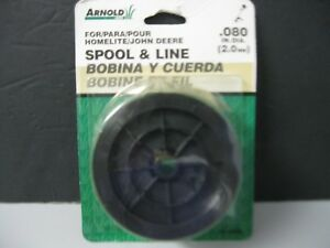 Arnold MTD Replacement Spool & line string .080 Homelite John Deere HL-080S NOS