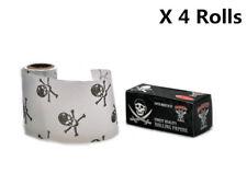 4 X HORNET 5M Natural UNREFINED Hemp ORGANIC Rolling paper ROLLS- SKULL