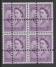 Jersey 3691 - 1967 Regional 3d block of 4  DOUBLE PERFS  FORGERY u/m