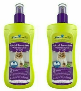 2X FURMINATOR HAIRBALL WATERLESS SPRAY FOR CATS NO BATHING REQUIRED 251ML EACH