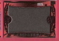 DWAYNE JOHNSON THE ROCK WORN RELIC SWATCH WARDROBE CARD PROP CENTURY 17 LEAF POP