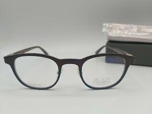 ALIUM K 4 9357 eyeglasses frames - Brown / blue + case NEW Pure aluminium