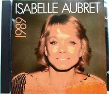"""ISABELLE AUBRET - RARE CD """"1989"""" (DÉDICACÉ)"""