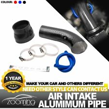"Carbon fiber grain 3"" Car Cold Air Intake Induction Pipe Kit Filter Tube System"