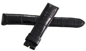 Chronoswiss 18mm x 16mm Black Leather Watch Band Strap
