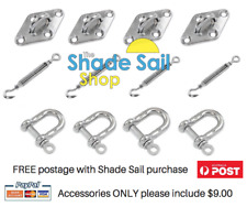 Shade Sail 10mm Installation Accessory Kit 12pcs for Square/Rectangle shade sail