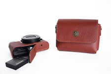 Genuine Real Leather Full Camera Case Bag Cover for Panasonic LX10 LX9 LX15