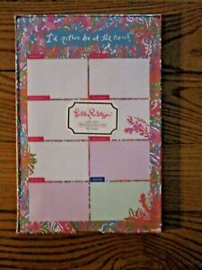 LILLY PULITZER LIST PAD SCUBA TO CUBA 60 Weekly Notes Patterned Tray/ Beach NEW