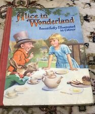 VINTAGE 1930's ALICE IN WONDERLAND COLOUR ILLUSTRATED (BY A.A. NASH?)