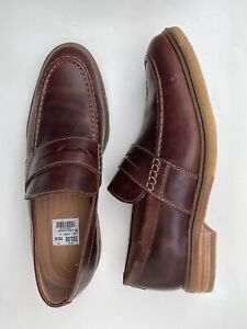 BN Clarks Clarkdale Flow Loafer Mahogany Leather Shoes Brown UK 10 EUR 44.5
