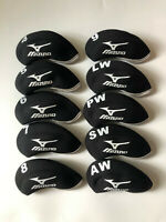 10PCS Golf Iron Headcovers for Mizuno Club Covers Black&Black 4-LW Universal