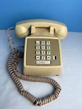 Vintage At&T Pale Yellow Push Button 1980s Desk Phone