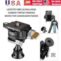 US 360° Leofoto MBC-20 ballhead Camera Tripod Panning Micro For Canon Sony Nikon