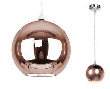 SPECCHIO moderno Cooper metallico Palla Soffitto Ciondolo Luce Paralume Luci